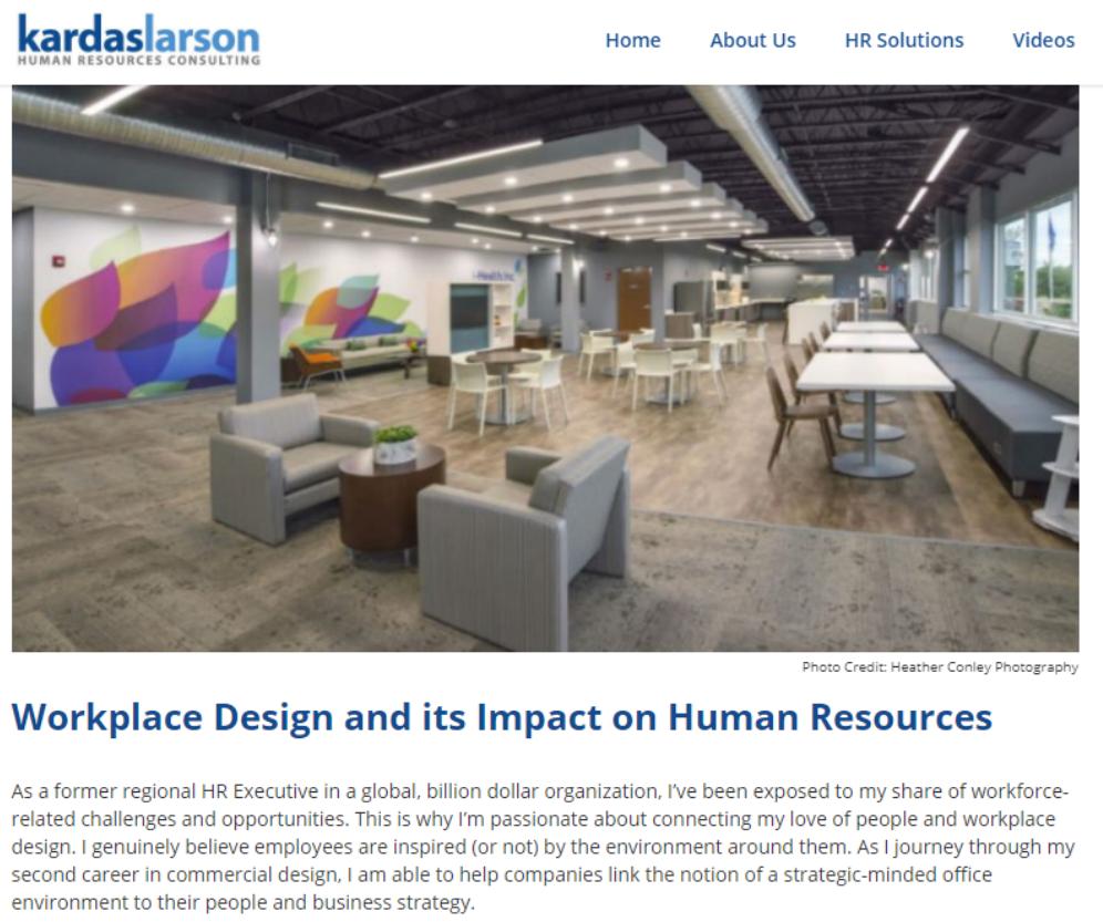 Human Resources, workplace design, commercial interior designer,